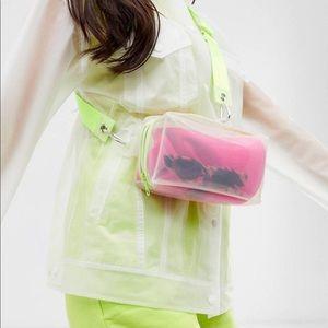 ASOS Design plastic bag with neon details
